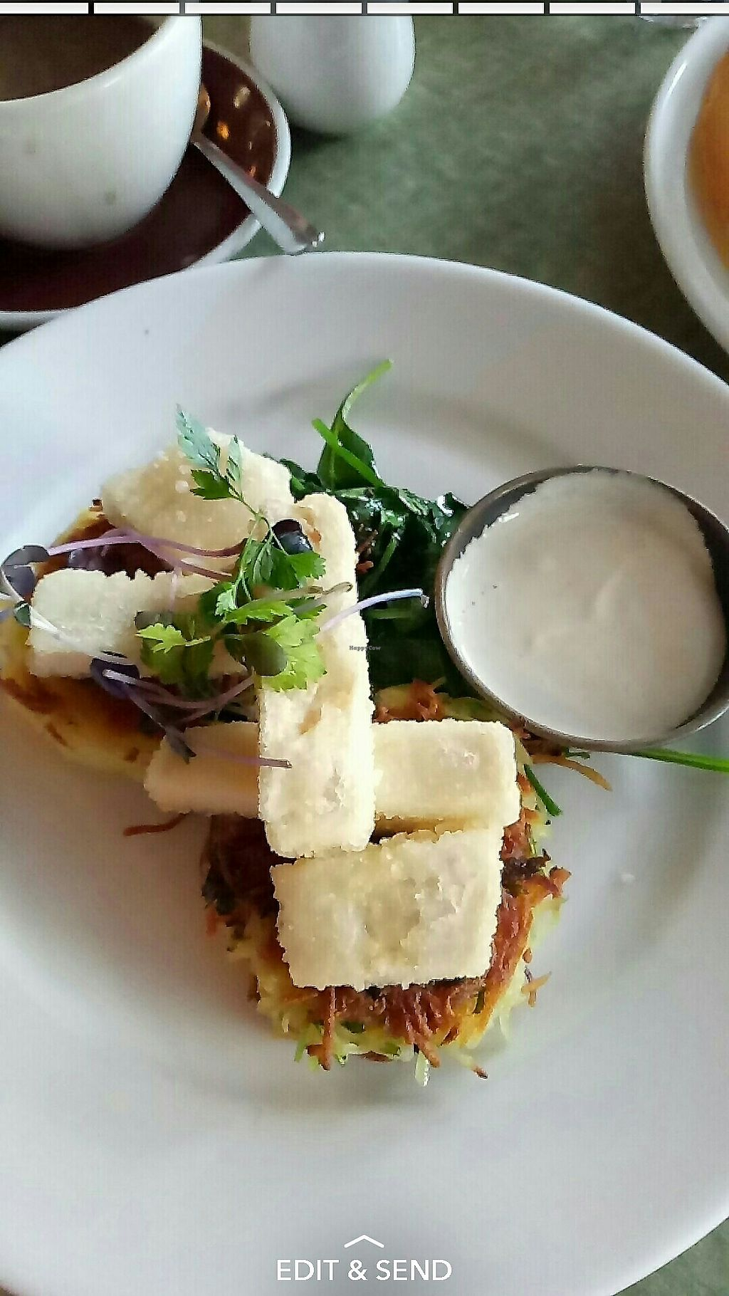 """Photo of GoBang Espresso  by <a href=""""/members/profile/jennybean678"""">jennybean678</a> <br/>Potato Hashcakes with Tofu <br/> July 17, 2017  - <a href='/contact/abuse/image/94681/281580'>Report</a>"""