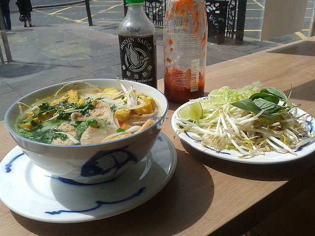 """Photo of VietCafe  by <a href=""""/members/profile/deadpledge"""">deadpledge</a> <br/>Vegan chicken PHO noodles with bean sprout salad <br/> July 3, 2017  - <a href='/contact/abuse/image/94683/276393'>Report</a>"""