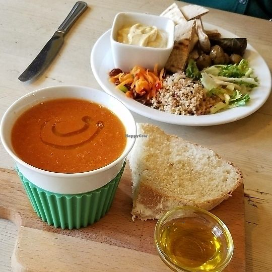"""Photo of 88 Degrees  by <a href=""""/members/profile/gdwasmund"""">gdwasmund</a> <br/>""""Vegan Surprise"""" and vegan tomato soup on the day <br/> June 24, 2017  - <a href='/contact/abuse/image/94702/273047'>Report</a>"""