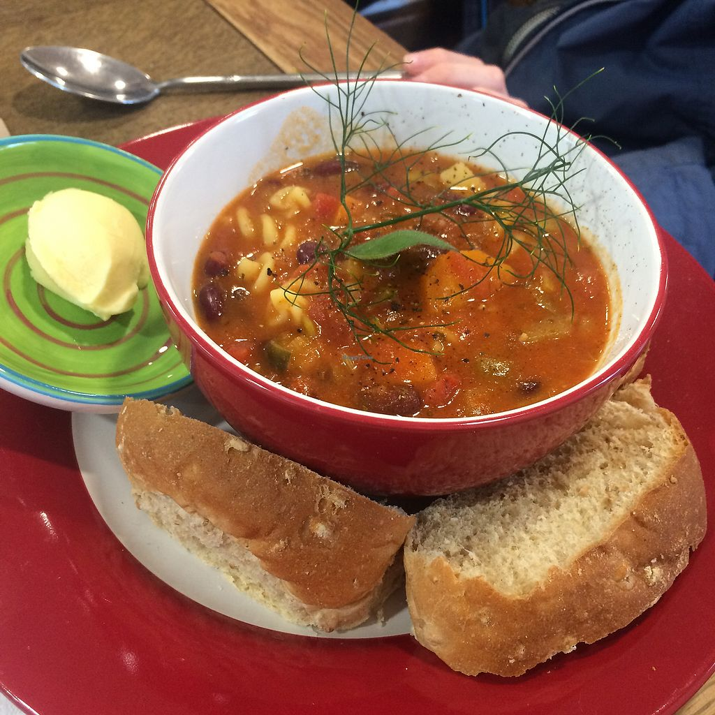 """Photo of Hallbankgate Hub Shop and Cafe  by <a href=""""/members/profile/Bethyboos"""">Bethyboos</a> <br/>Delicious soup  <br/> July 26, 2017  - <a href='/contact/abuse/image/94705/284982'>Report</a>"""