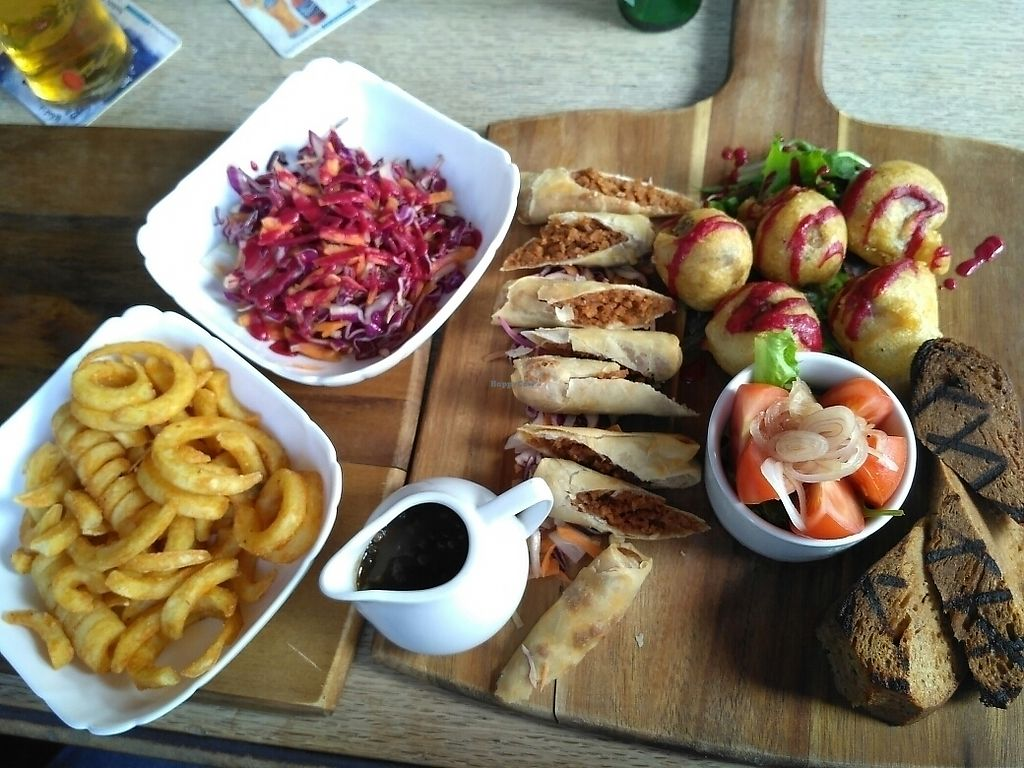 """Photo of Two Wolves Kitchen  by <a href=""""/members/profile/Miggi"""">Miggi</a> <br/>Vegan sharing platter <br/> August 19, 2017  - <a href='/contact/abuse/image/94749/294311'>Report</a>"""