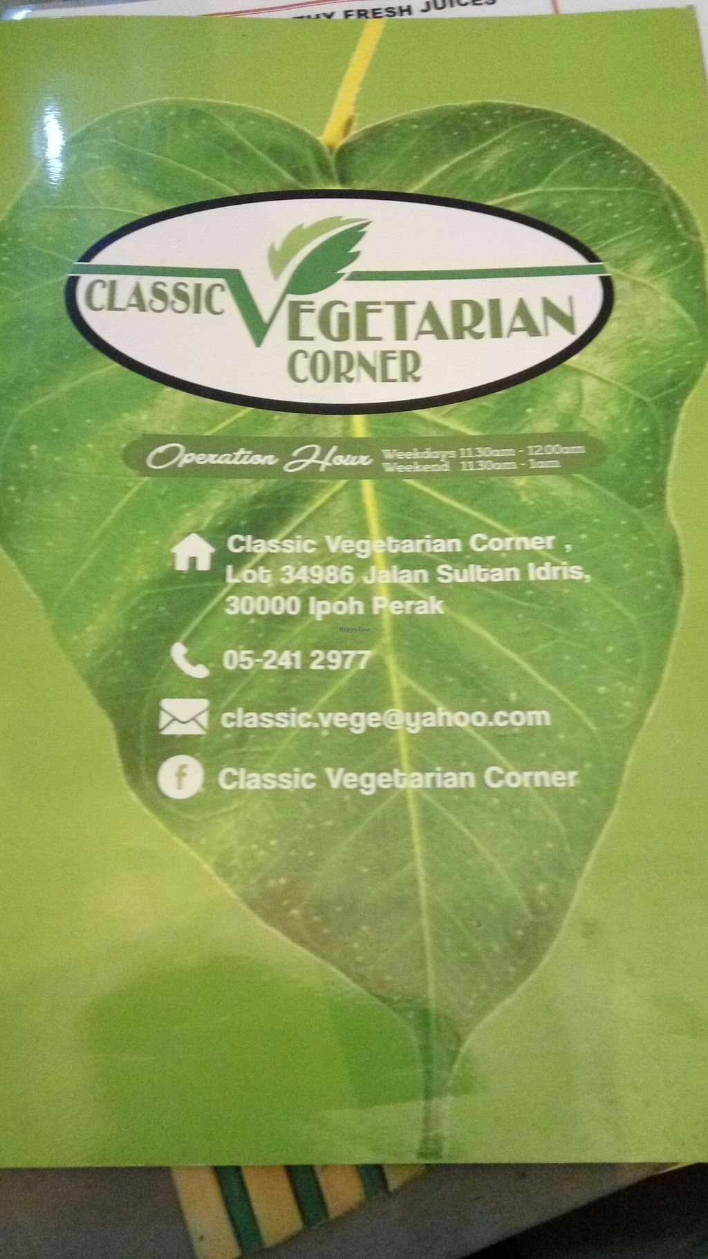 "Photo of Classic Vegetarian Corner  by <a href=""/members/profile/nac2k"">nac2k</a> <br/>Menu <br/> June 25, 2017  - <a href='/contact/abuse/image/94766/273444'>Report</a>"