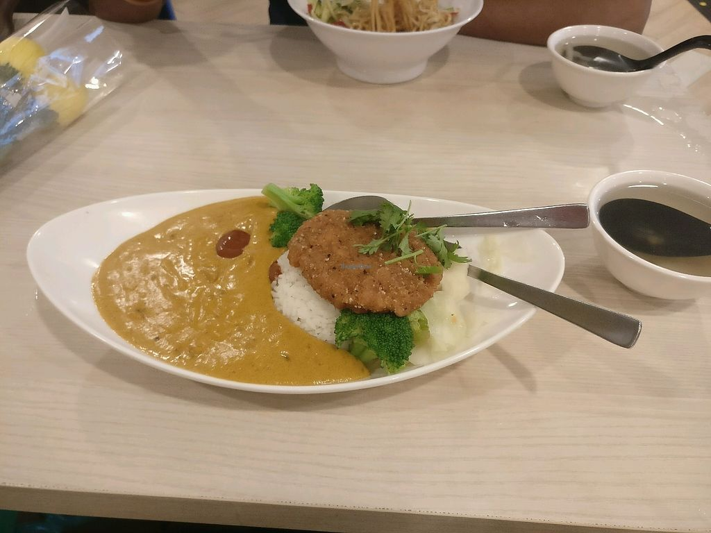 """Photo of Truly Vegetarian  by <a href=""""/members/profile/SwethaVishnampet"""">SwethaVishnampet</a> <br/>Chickenless cutlet curry rice <br/> August 23, 2017  - <a href='/contact/abuse/image/94769/296199'>Report</a>"""