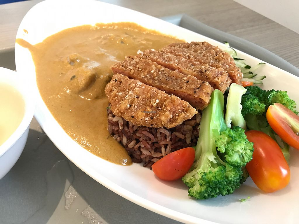 """Photo of Truly Vegetarian  by <a href=""""/members/profile/neilmadhvani"""">neilmadhvani</a> <br/>Chickenless cutlet curry with brown rice <br/> September 13, 2017  - <a href='/contact/abuse/image/94769/303957'>Report</a>"""