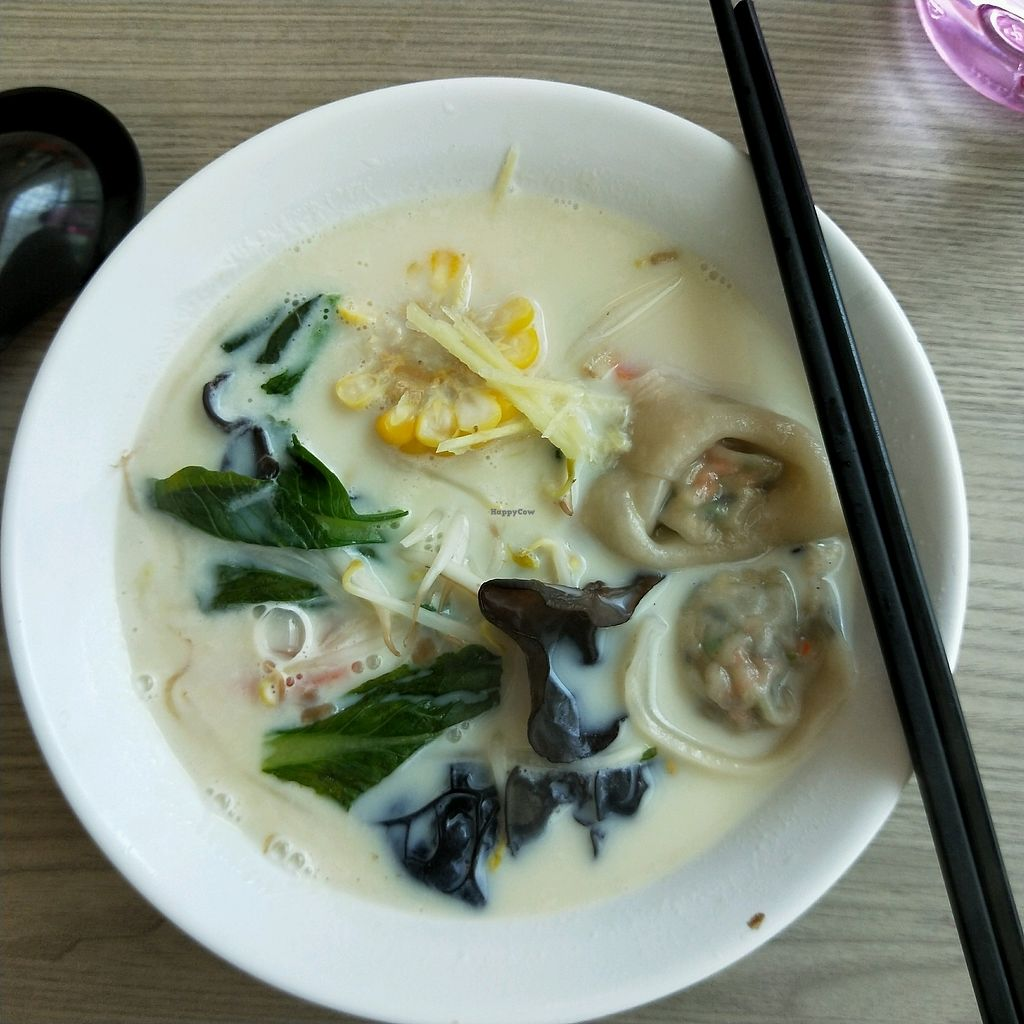 """Photo of Truly Vegetarian  by <a href=""""/members/profile/christabellybutton"""">christabellybutton</a> <br/>Soya Soup Dumpling Ramen <br/> February 18, 2018  - <a href='/contact/abuse/image/94769/360815'>Report</a>"""