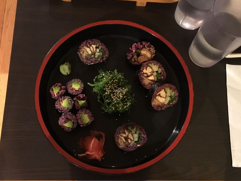 """Photo of Sushi Keyaki  by <a href=""""/members/profile/JuliettePayer"""">JuliettePayer</a> <br/>never seen seaweed sushis elsewhere! <br/> August 17, 2017  - <a href='/contact/abuse/image/94846/293683'>Report</a>"""