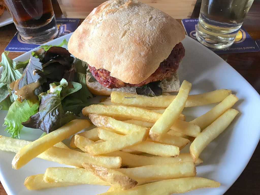 """Photo of The Horse & Plough  by <a href=""""/members/profile/Chris_D"""">Chris_D</a> <br/>Vegan Tempeh Burger <br/> June 26, 2017  - <a href='/contact/abuse/image/94855/273739'>Report</a>"""