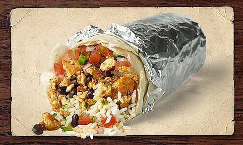 """Photo of Chipotle  by <a href=""""/members/profile/ashleycrowder"""">ashleycrowder</a> <br/>Vegan burrito with sofritas https://www.peta.org/living/food/6-ways-vegan-chipotle/ <br/> June 27, 2017  - <a href='/contact/abuse/image/94865/273871'>Report</a>"""
