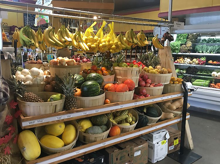 """Photo of Natural Selection Food & Wine  by <a href=""""/members/profile/veganmom"""">veganmom</a> <br/>organic produce <br/> October 21, 2017  - <a href='/contact/abuse/image/94877/317375'>Report</a>"""