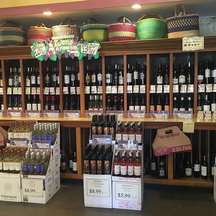 """Photo of Natural Selection Food & Wine  by <a href=""""/members/profile/veganmom"""">veganmom</a> <br/>organic wines <br/> October 21, 2017  - <a href='/contact/abuse/image/94877/317380'>Report</a>"""