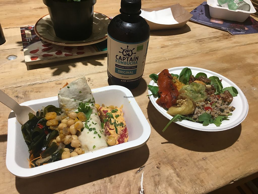 """Photo of Vega Raw Organic  by <a href=""""/members/profile/TokineAtsuta"""">TokineAtsuta</a> <br/>My lunch and Kombucha <br/> August 24, 2017  - <a href='/contact/abuse/image/94882/296792'>Report</a>"""