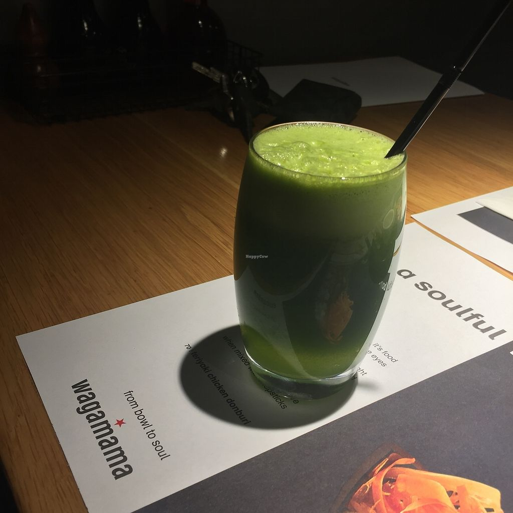 "Photo of Wagamama  by <a href=""/members/profile/TARAMCDONALD"">TARAMCDONALD</a> <br/>Fresh juice <br/> November 14, 2017  - <a href='/contact/abuse/image/94890/325760'>Report</a>"