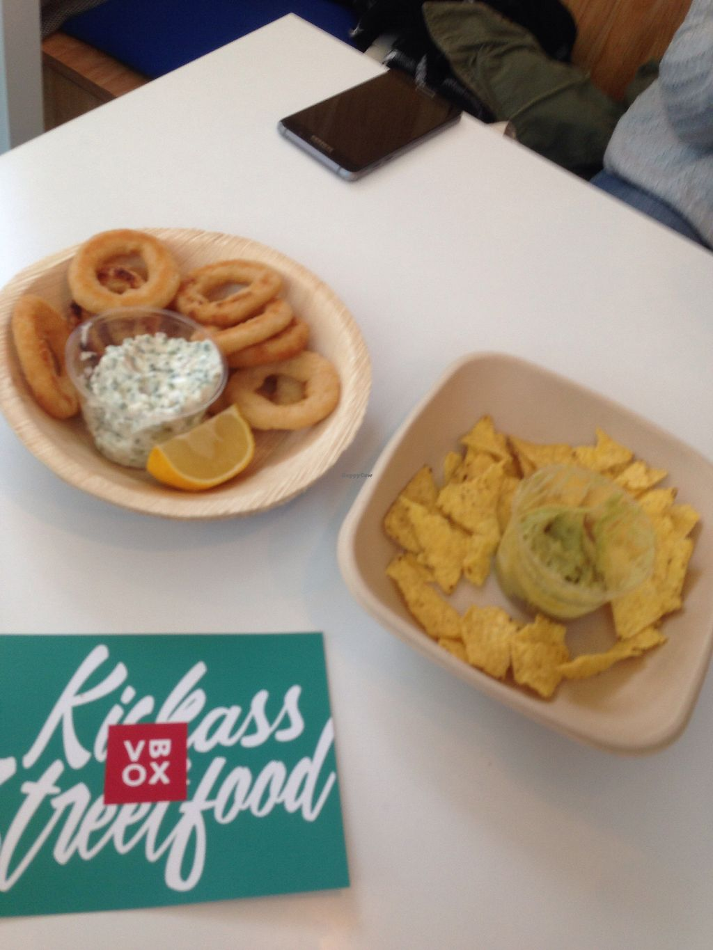 """Photo of V-Box  by <a href=""""/members/profile/NoraDevisscher"""">NoraDevisscher</a> <br/>Onion rings and nachos <br/> October 25, 2017  - <a href='/contact/abuse/image/94891/318738'>Report</a>"""