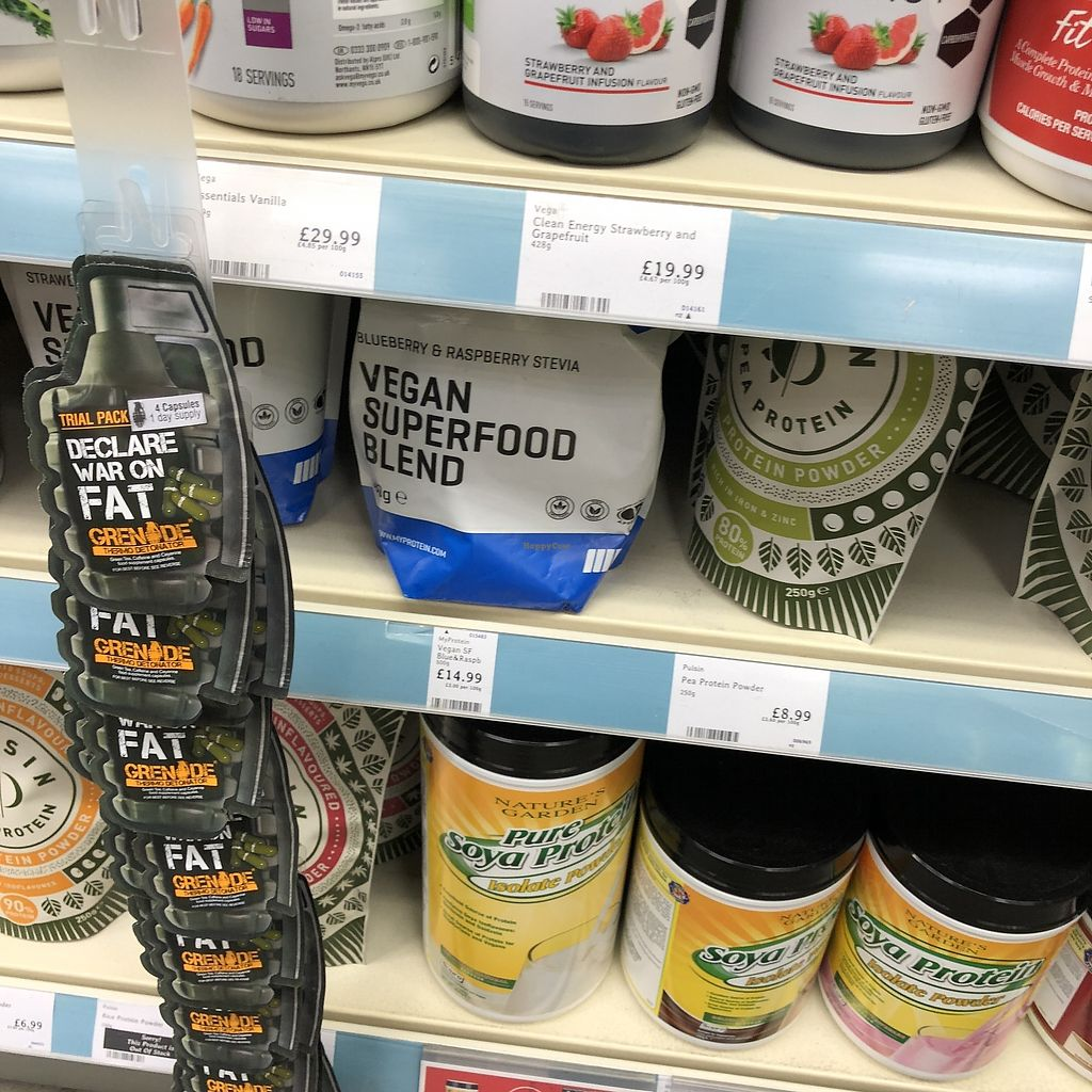 """Photo of Holland & Barrett  by <a href=""""/members/profile/TARAMCDONALD"""">TARAMCDONALD</a> <br/>Vegan supplements and superfood <br/> April 1, 2018  - <a href='/contact/abuse/image/94896/379378'>Report</a>"""