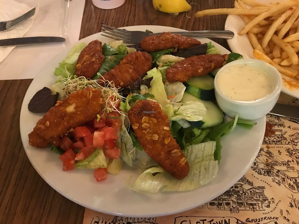 """Photo of Knott's Berry Farm - Ghost Town Grill  by <a href=""""/members/profile/Indysay"""">Indysay</a> <br/>Buffalo Tenders Salad  <br/> June 28, 2017  - <a href='/contact/abuse/image/94925/274242'>Report</a>"""
