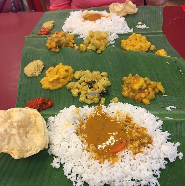 "Photo of Lakshmi Vilas  by <a href=""/members/profile/Gillsabroad"">Gillsabroad</a> <br/>banana leaf meal for two  <br/> October 26, 2016  - <a href='/contact/abuse/image/9493/184531'>Report</a>"