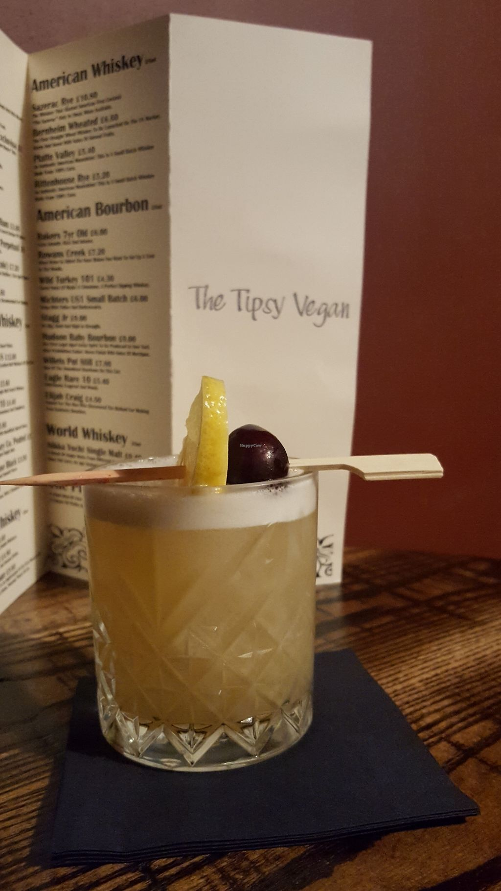 "Photo of The Tipsy Vegan  by <a href=""/members/profile/VeganAnnaS"">VeganAnnaS</a> <br/>Whisky sour <br/> September 25, 2017  - <a href='/contact/abuse/image/94965/308451'>Report</a>"