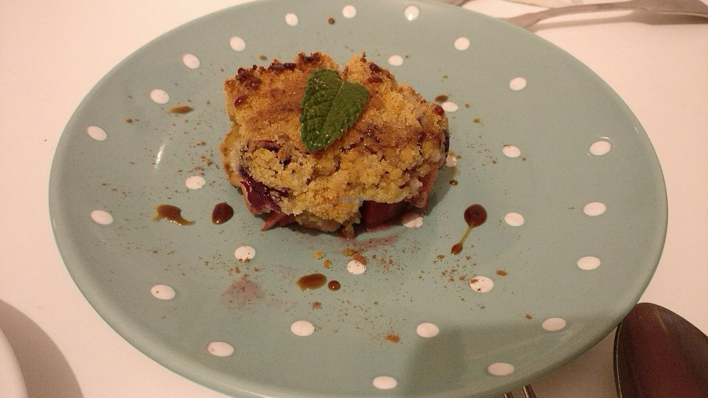 """Photo of Hortela - Cafetaria Organica  by <a href=""""/members/profile/basharania"""">basharania</a> <br/>apple crumble with berries <br/> July 21, 2017  - <a href='/contact/abuse/image/94971/283018'>Report</a>"""