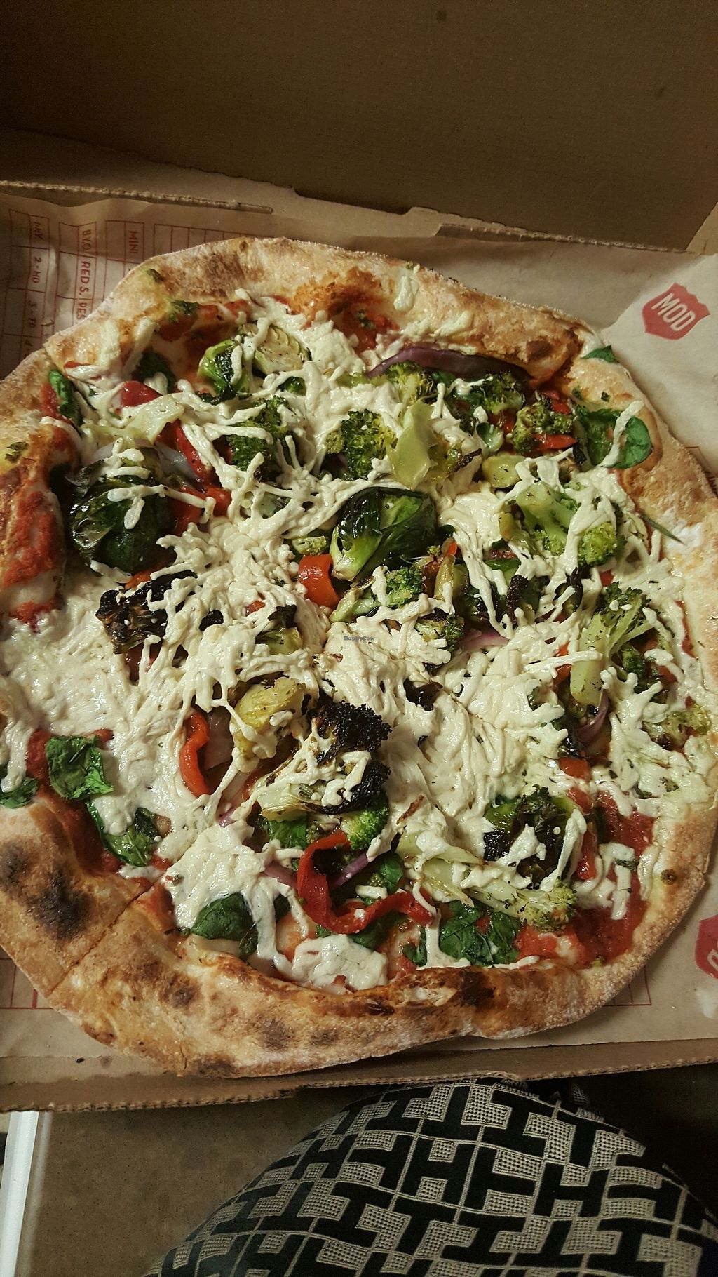 """Photo of Mod Pizza  by <a href=""""/members/profile/RachelSarahGeorge"""">RachelSarahGeorge</a> <br/>the crispy crust is the best! <br/> December 17, 2017  - <a href='/contact/abuse/image/94983/336532'>Report</a>"""