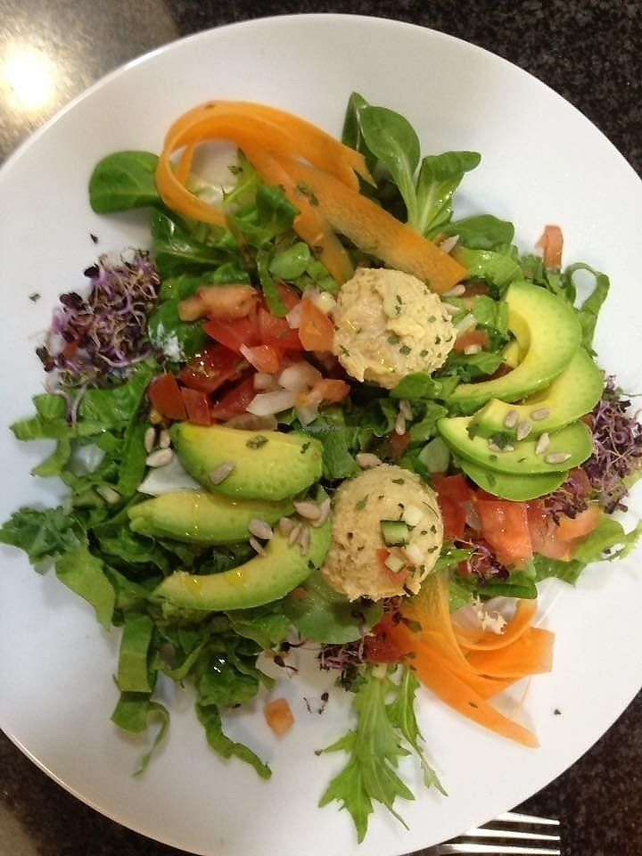 """Photo of Cosana Cafe  by <a href=""""/members/profile/Sam%40cosanacafe"""">Sam@cosanacafe</a> <br/>A delightful humus salad <br/> September 10, 2017  - <a href='/contact/abuse/image/94985/302934'>Report</a>"""