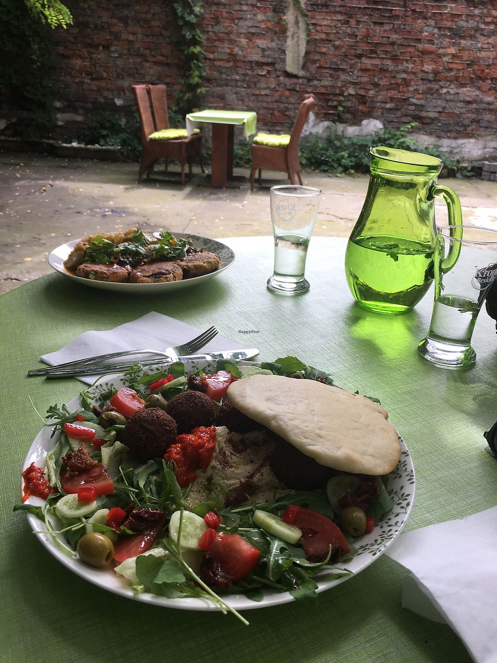 """Photo of Zielona Micha  by <a href=""""/members/profile/Rucri"""">Rucri</a> <br/>falafel plate with home made hummus  <br/> July 21, 2017  - <a href='/contact/abuse/image/94991/282853'>Report</a>"""
