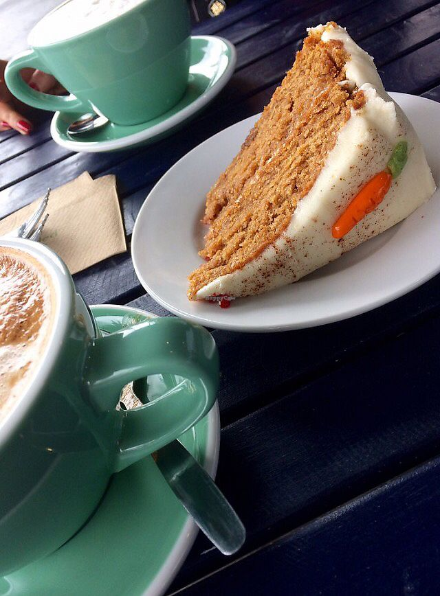"""Photo of Crumbs Vegan Bakery  by <a href=""""/members/profile/CiaraSlevin"""">CiaraSlevin</a> <br/>Carrot Cake  <br/> July 12, 2017  - <a href='/contact/abuse/image/95001/279492'>Report</a>"""