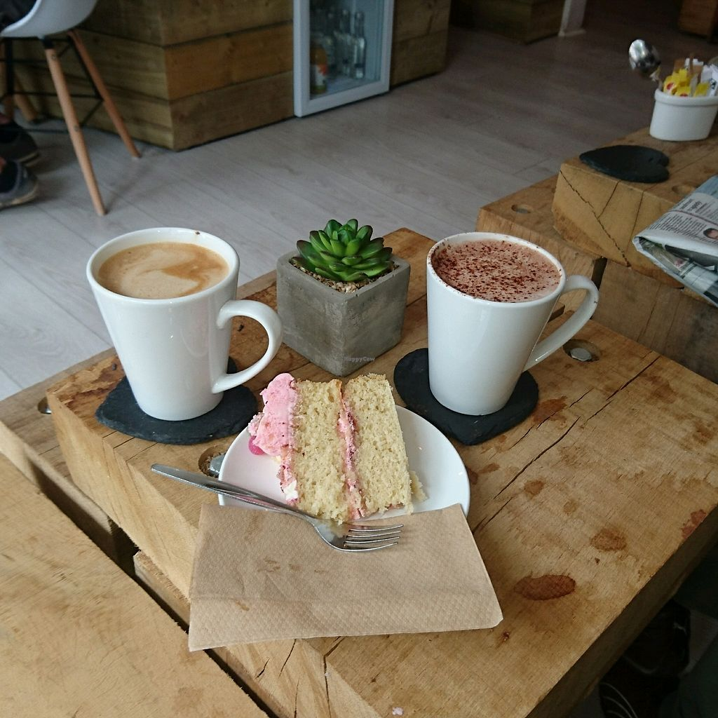 """Photo of The Kind Grind  by <a href=""""/members/profile/EveWarren"""">EveWarren</a> <br/>vegan cake and coffee ☕  <br/> September 25, 2017  - <a href='/contact/abuse/image/95003/308141'>Report</a>"""