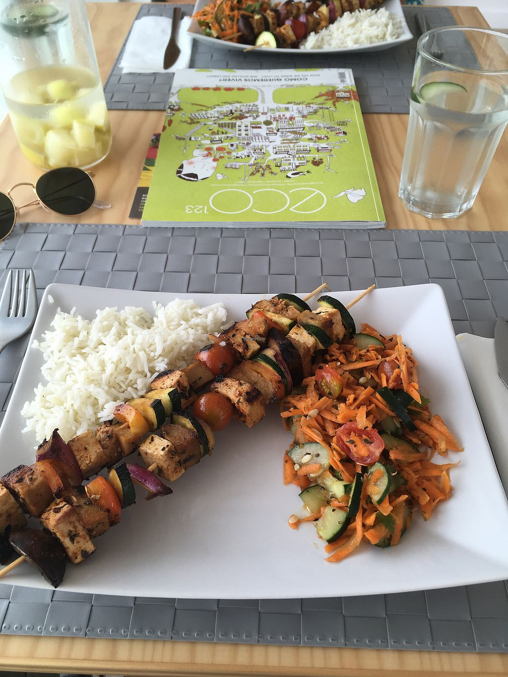"""Photo of Villa Bio Lifestyle  by <a href=""""/members/profile/GarethTaylor-Edwards"""">GarethTaylor-Edwards</a> <br/>tofu vege kebab and salad <br/> August 21, 2017  - <a href='/contact/abuse/image/95006/295198'>Report</a>"""