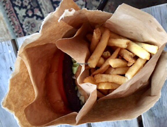 "Photo of WeDoBurgers  by <a href=""/members/profile/Kolbrunisti"">Kolbrunisti</a> <br/>Vegan burger and fries <br/> December 1, 2017  - <a href='/contact/abuse/image/95008/331069'>Report</a>"