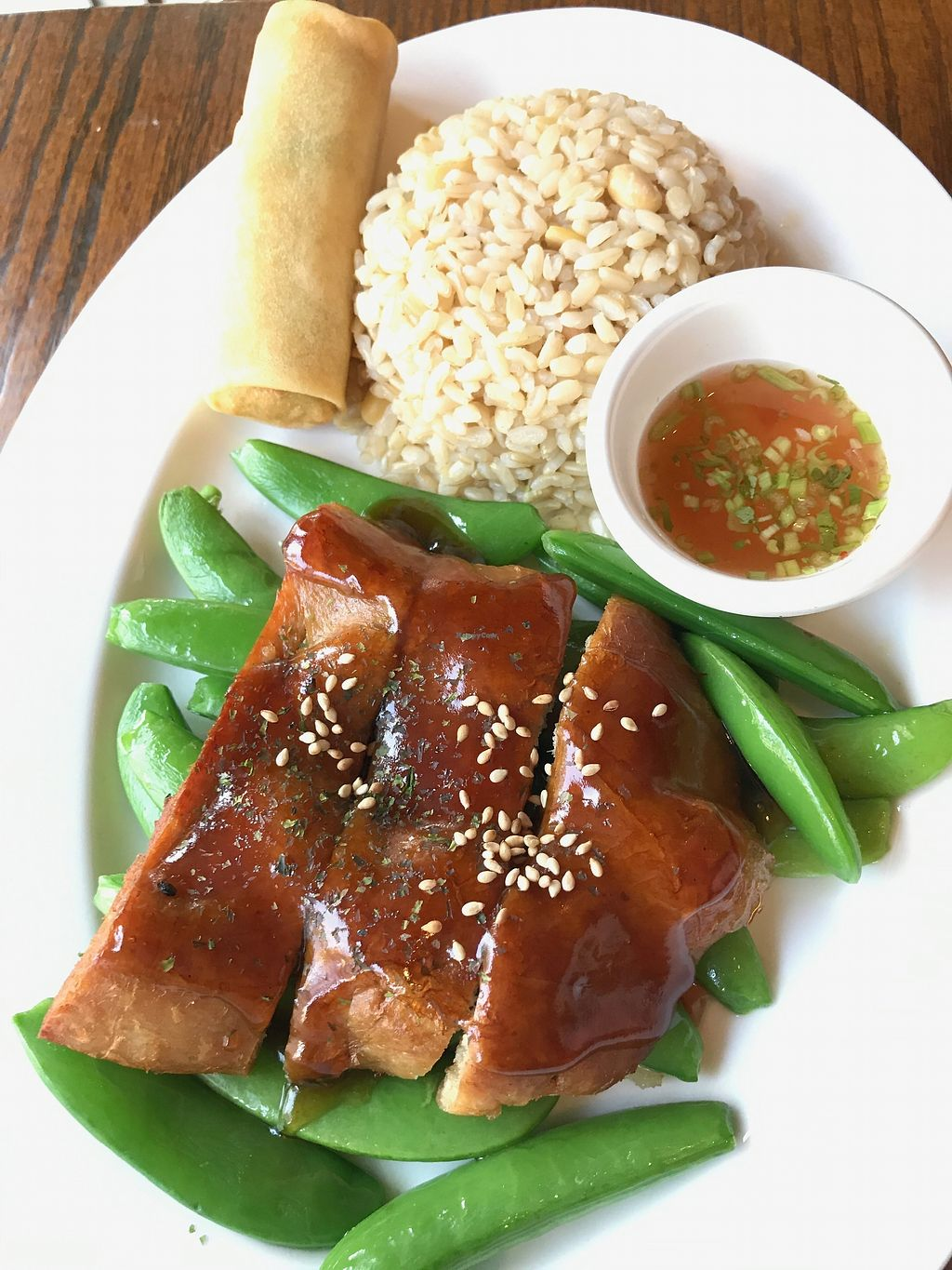 "Photo of A8 Pan Asian Vegan  by <a href=""/members/profile/VeganBubble"">VeganBubble</a> <br/>Smoked Teriyaki Seitan <br/> July 5, 2017  - <a href='/contact/abuse/image/95014/276912'>Report</a>"