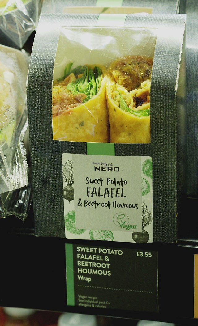 """Photo of Caffe Nero  by <a href=""""/members/profile/VeggieFromSpace"""">VeggieFromSpace</a> <br/>vegan wrap <br/> July 16, 2017  - <a href='/contact/abuse/image/95028/280937'>Report</a>"""