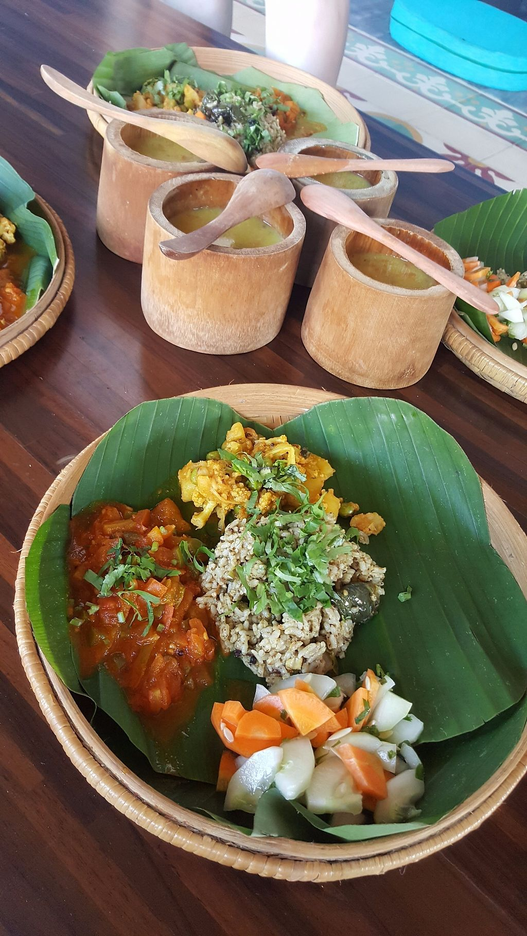 """Photo of Vedic Kitchen   by <a href=""""/members/profile/Elicesantoso"""">Elicesantoso</a> <br/>Thali with organic brown rice served with salad, sides ,dal <br/> June 30, 2017  - <a href='/contact/abuse/image/95029/274985'>Report</a>"""
