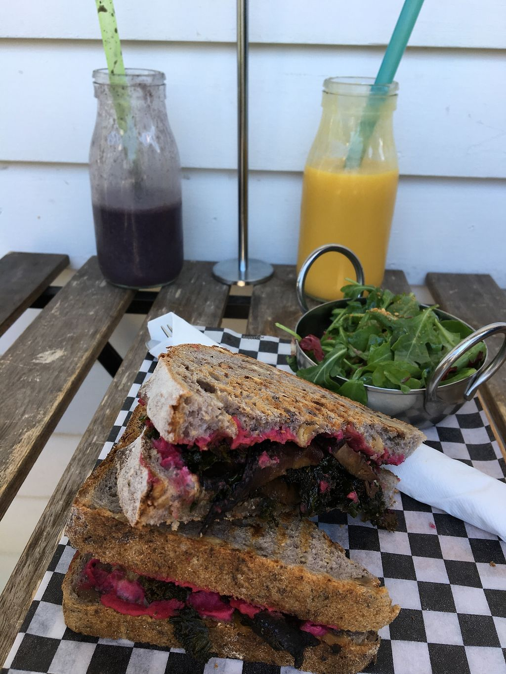 """Photo of Saint Laurent Cafe-Boutique  by <a href=""""/members/profile/Marty_G"""">Marty_G</a> <br/>Vegan grilled """"cheese """" and smoothies made with almond milk <br/> July 4, 2017  - <a href='/contact/abuse/image/95051/276642'>Report</a>"""