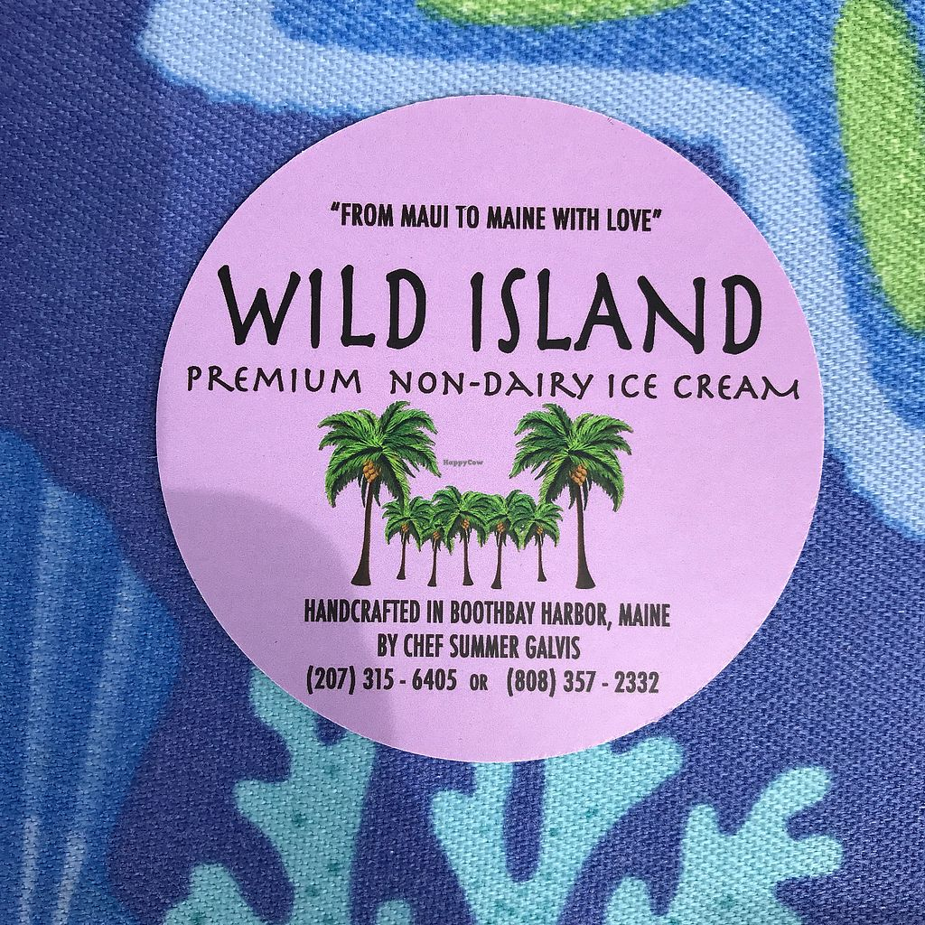 """Photo of Wild Island Non-Dairy Ice Cream  by <a href=""""/members/profile/Sarah%20P"""">Sarah P</a> <br/>business card <br/> June 30, 2017  - <a href='/contact/abuse/image/95071/275050'>Report</a>"""