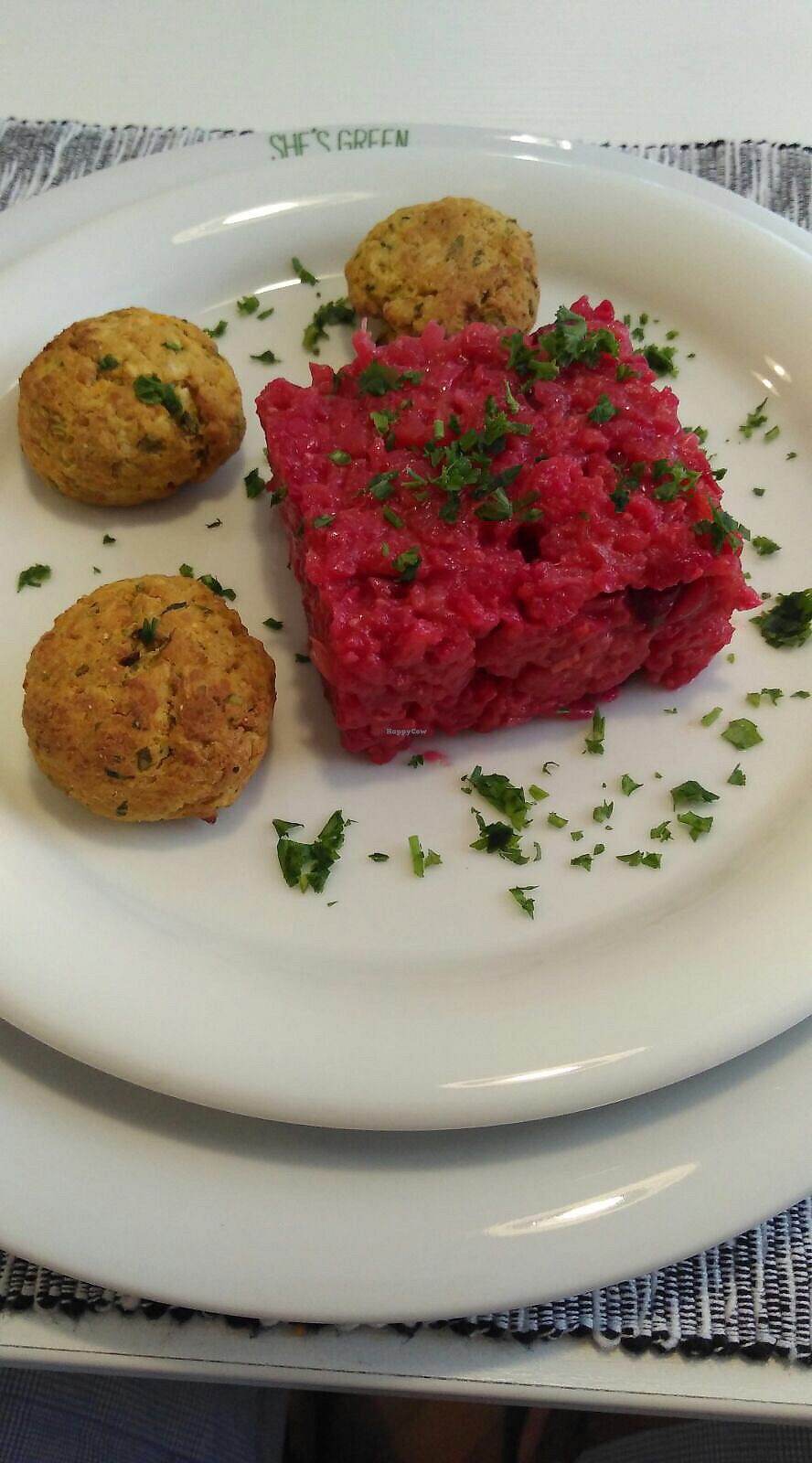 """Photo of She's Green  by <a href=""""/members/profile/RazZor"""">RazZor</a> <br/>beetroot risotto and chickpeas paddies <br/> July 18, 2017  - <a href='/contact/abuse/image/95077/281889'>Report</a>"""