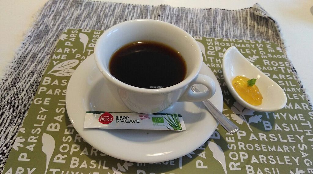 """Photo of She's Green  by <a href=""""/members/profile/RazZor"""">RazZor</a> <br/>Sumatra coffee with agave sweetener and orange-ginger jam  <br/> July 18, 2017  - <a href='/contact/abuse/image/95077/281894'>Report</a>"""