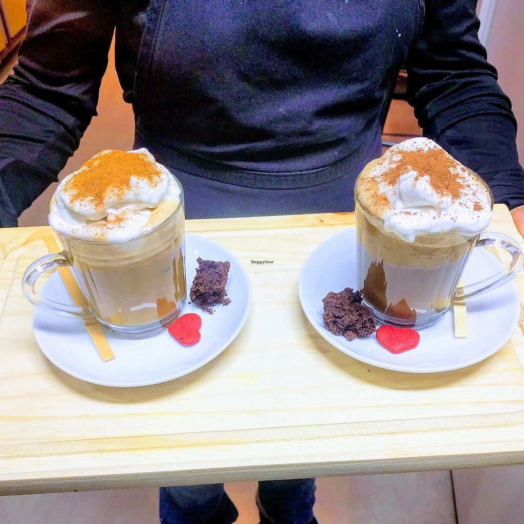 """Photo of Pop Art + Black Cat Cafe  by <a href=""""/members/profile/Franhells"""">Franhells</a> <br/>Super Veg Capuccino <br/> July 4, 2017  - <a href='/contact/abuse/image/95094/276680'>Report</a>"""