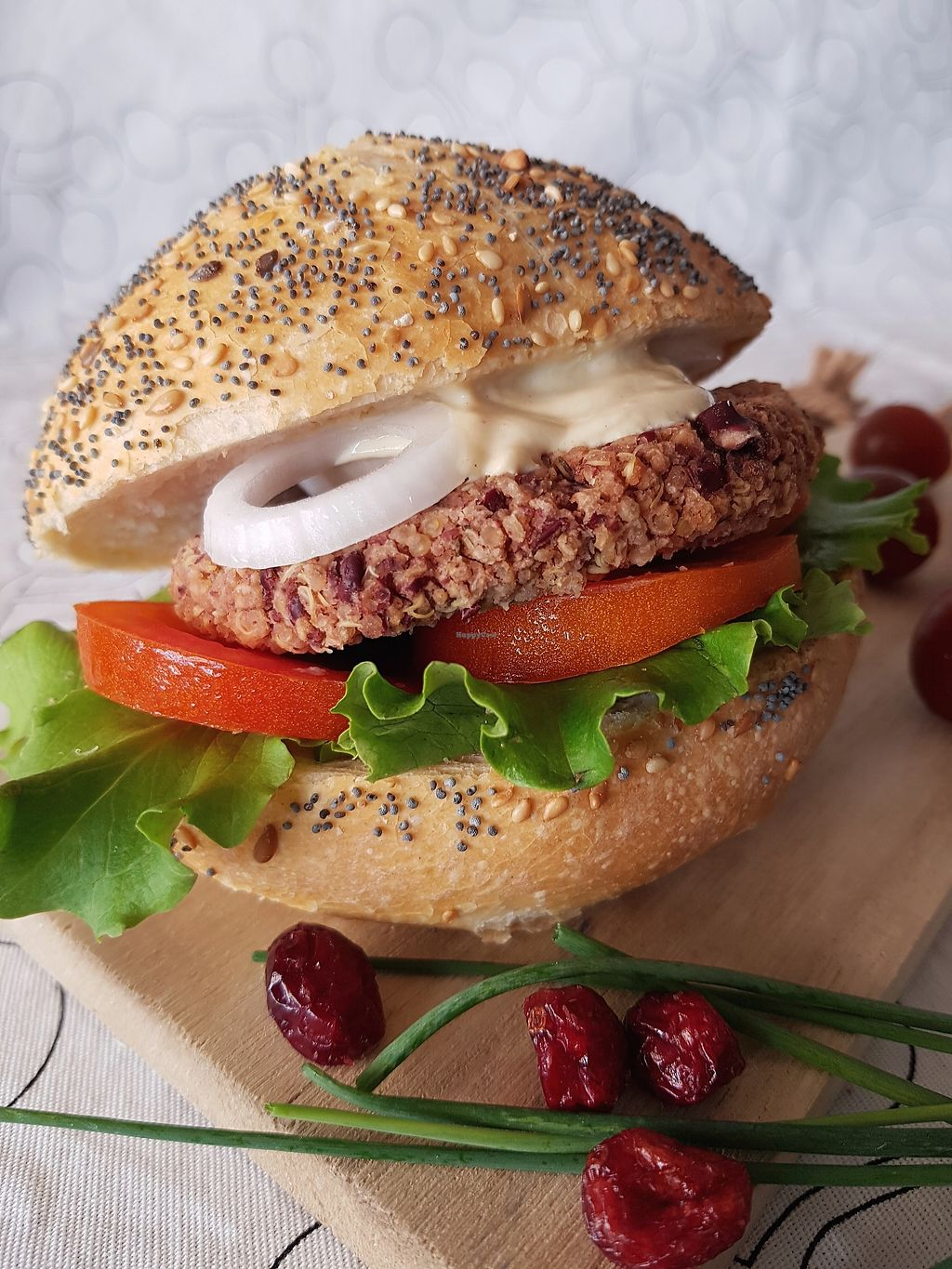 """Photo of Petit Vegan  by <a href=""""/members/profile/petitvegan"""">petitvegan</a> <br/>Homemade vegan burger made of red beans, quinoa, oat and spices <br/> July 13, 2017  - <a href='/contact/abuse/image/95126/279892'>Report</a>"""