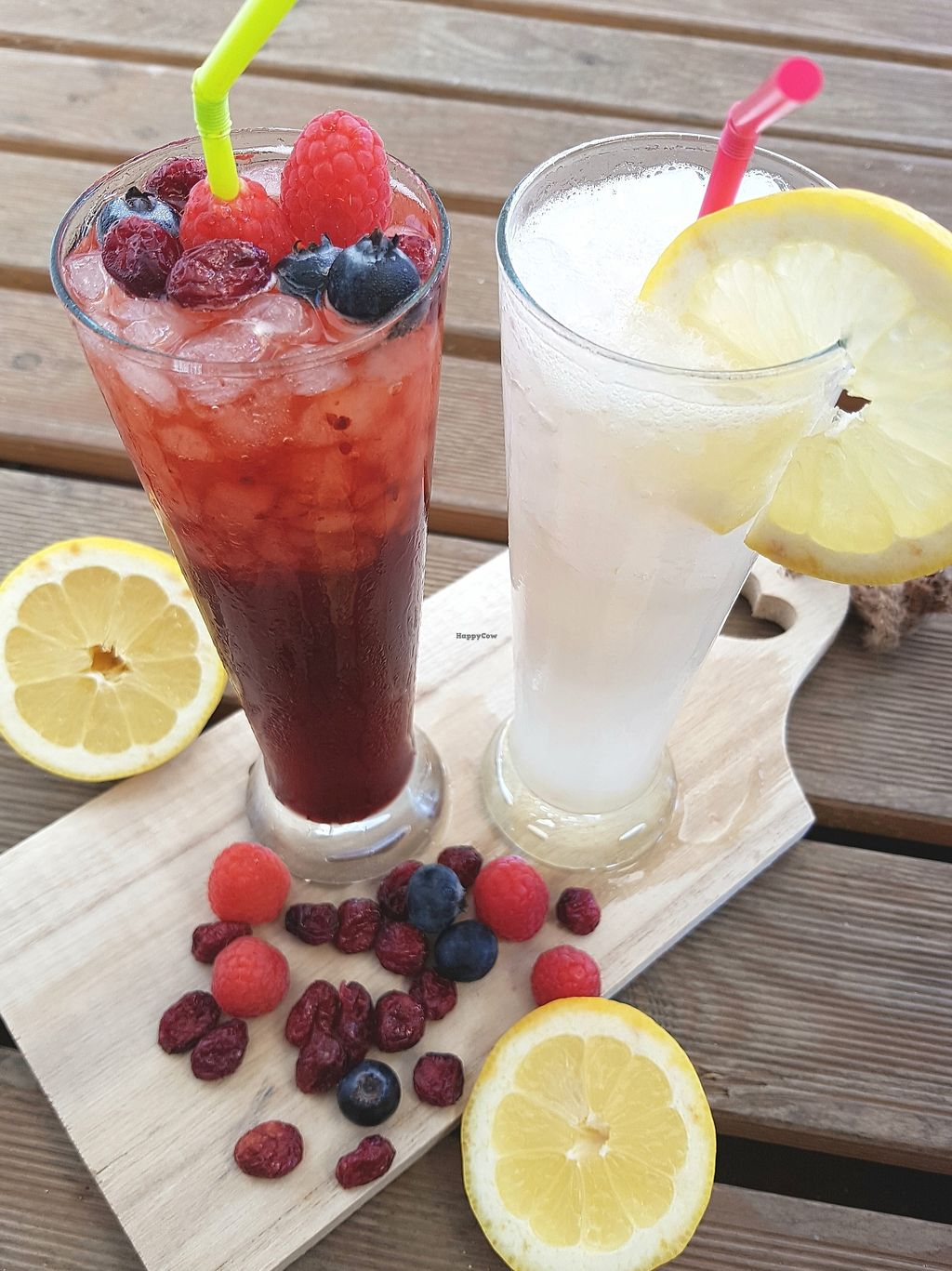 """Photo of Petit Vegan  by <a href=""""/members/profile/petitvegan"""">petitvegan</a> <br/>Smoothies made of lemon, coconut, orange and berries <br/> July 13, 2017  - <a href='/contact/abuse/image/95126/279893'>Report</a>"""