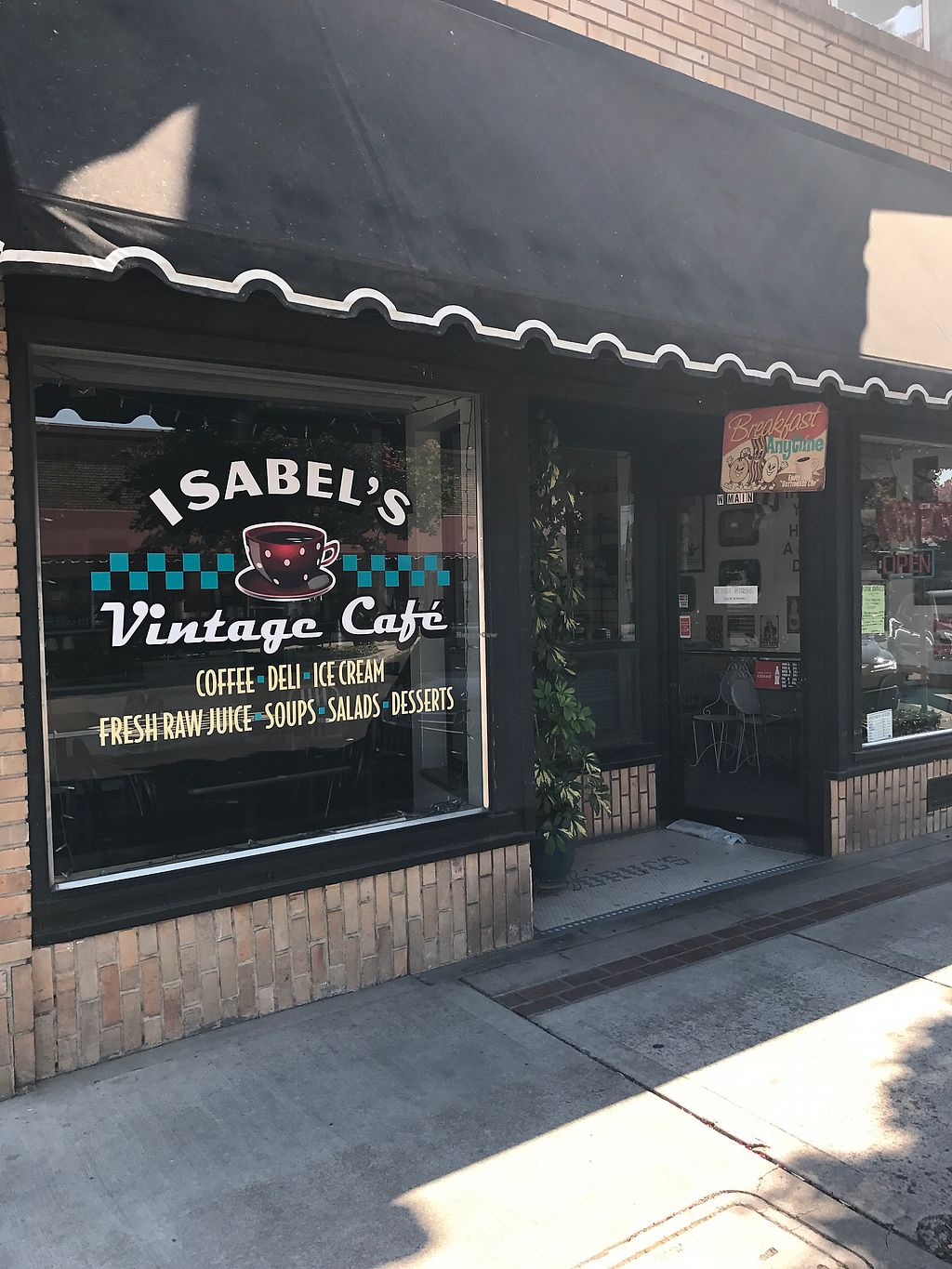 """Photo of Isabel's Vintage Cafe  by <a href=""""/members/profile/JudesMom"""">JudesMom</a> <br/>front <br/> July 14, 2017  - <a href='/contact/abuse/image/95131/280092'>Report</a>"""