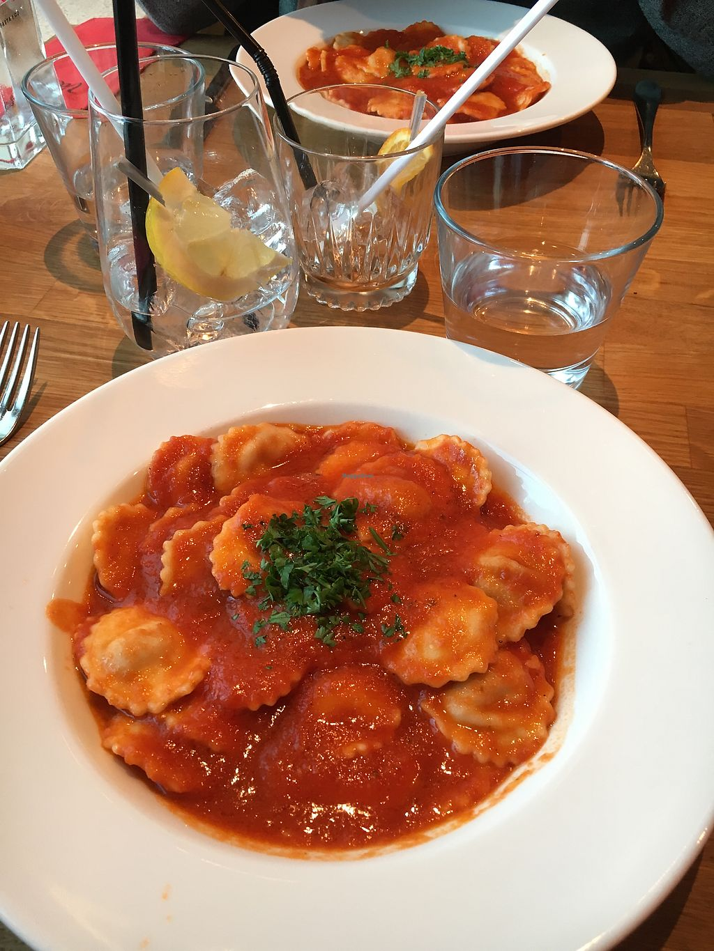 "Photo of Vaelsa  by <a href=""/members/profile/SeitanSeitanSeitan"">SeitanSeitanSeitan</a> <br/>The ravioli. At the moment with tomato sauce <br/> July 29, 2017  - <a href='/contact/abuse/image/95140/286268'>Report</a>"