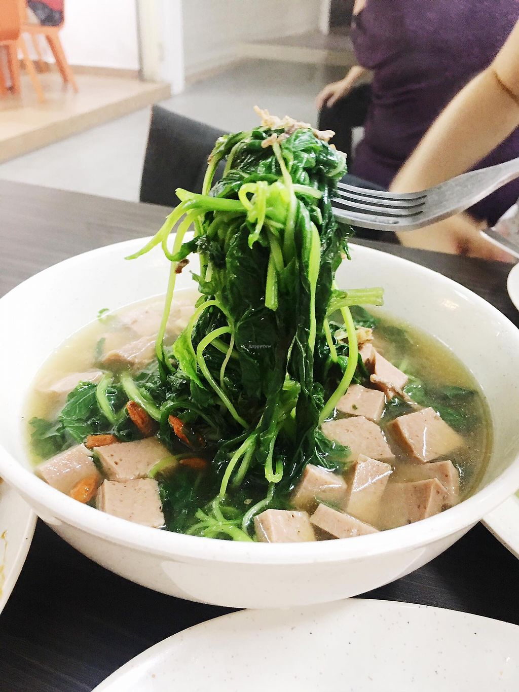 """Photo of Shu Vegetarian - Ang Mo Kio   by <a href=""""/members/profile/CherylQuincy"""">CherylQuincy</a> <br/>Spinach soup <br/> January 17, 2018  - <a href='/contact/abuse/image/95161/347385'>Report</a>"""