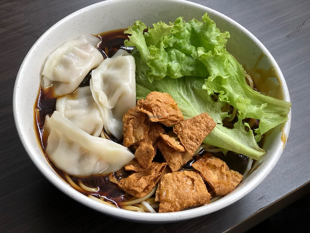"""Photo of Shu Vegetarian - Ang Mo Kio   by <a href=""""/members/profile/CherylQuincy"""">CherylQuincy</a> <br/>Dumpling noodles  <br/> January 31, 2018  - <a href='/contact/abuse/image/95161/352968'>Report</a>"""