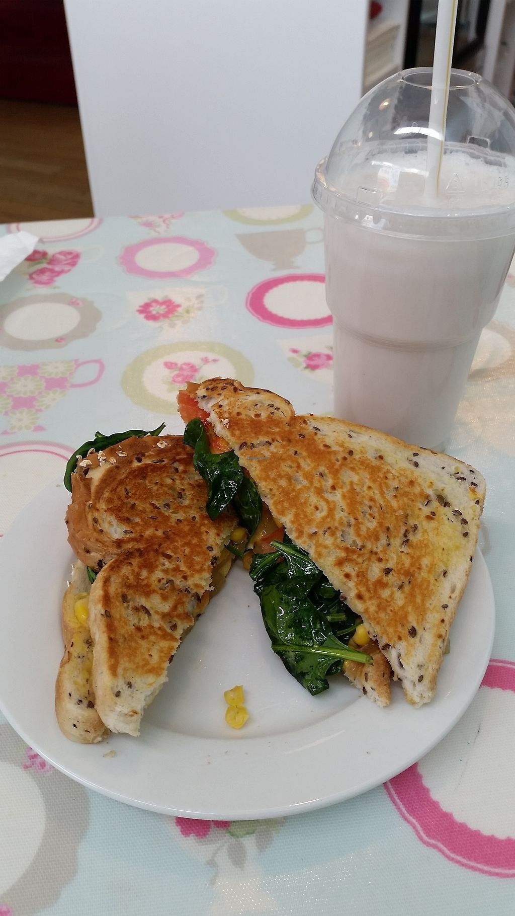 """Photo of Penelopes Cakery Deli  by <a href=""""/members/profile/AndyTheVWDude"""">AndyTheVWDude</a> <br/>Toasted sandwich & Soyshake <br/> September 4, 2017  - <a href='/contact/abuse/image/95170/300978'>Report</a>"""