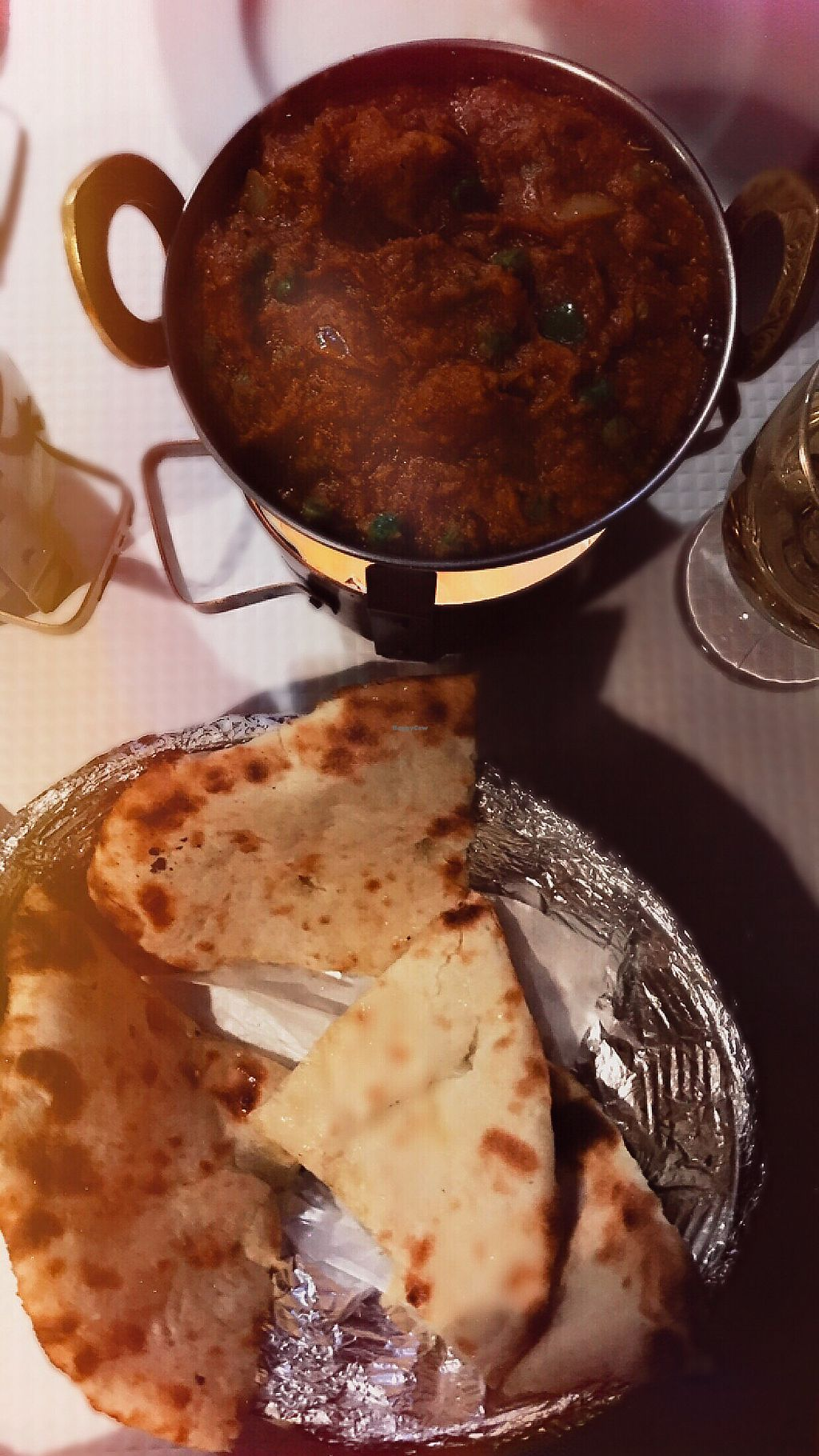 """Photo of Sanskar Nepal  by <a href=""""/members/profile/norbachs"""">norbachs</a> <br/>Vegan """"Chicken"""" Curry and Vegan """"cheese"""" naan  <br/> December 24, 2017  - <a href='/contact/abuse/image/95207/338867'>Report</a>"""