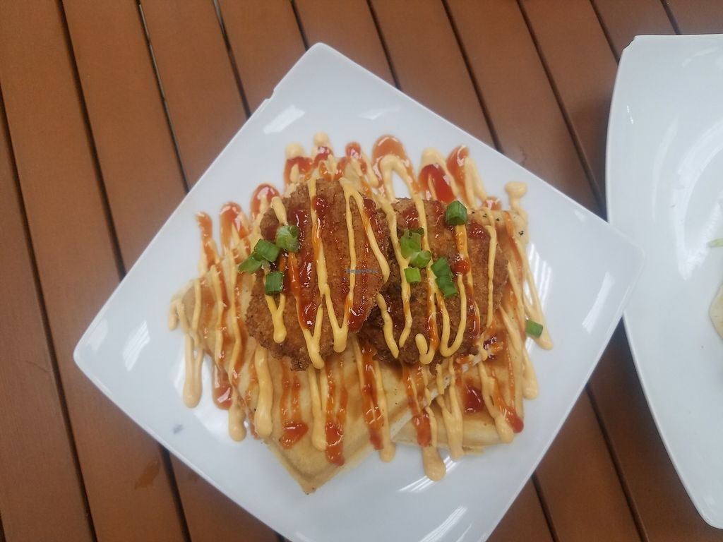 """Photo of Dajen Eats  by <a href=""""/members/profile/DanFKennedy"""">DanFKennedy</a> <br/>Vegan chicken and waffle. Absolutely delicioussss  <br/> July 15, 2017  - <a href='/contact/abuse/image/95211/280601'>Report</a>"""