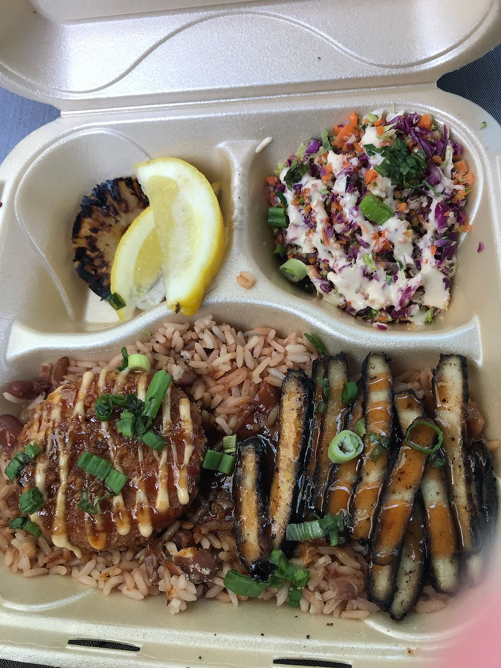 """Photo of Dajen Eats  by <a href=""""/members/profile/AmbrLgh"""">AmbrLgh</a> <br/>Rice and Jerk Chik'n To Go  <br/> April 12, 2018  - <a href='/contact/abuse/image/95211/384710'>Report</a>"""