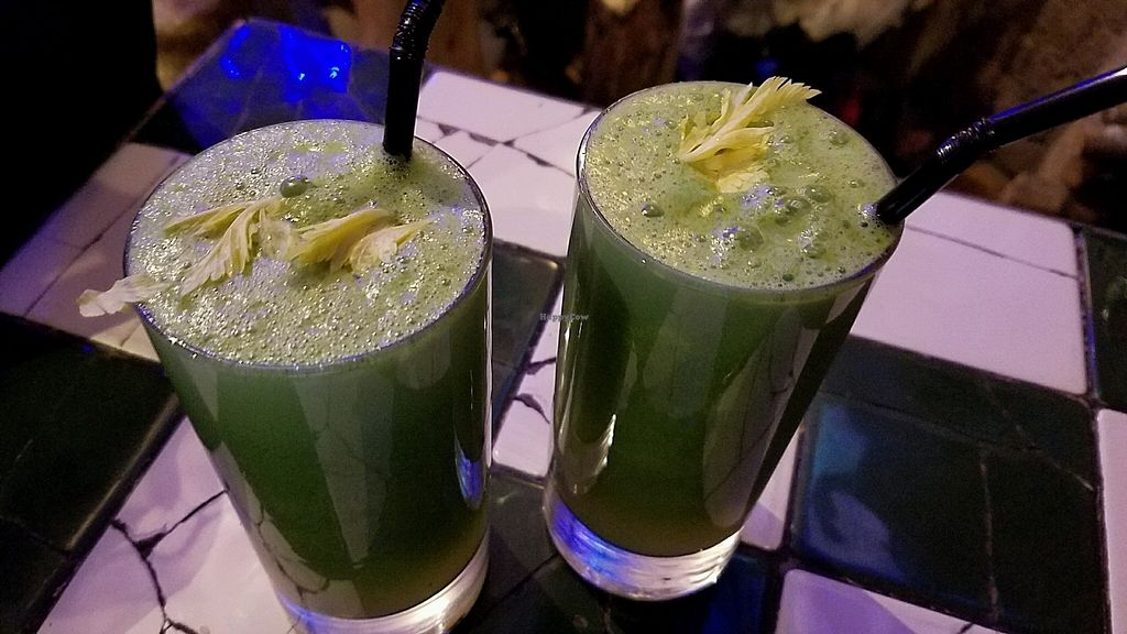 "Photo of Hawraman Cafe  by <a href=""/members/profile/eric"">eric</a> <br/>green juices <br/> October 22, 2017  - <a href='/contact/abuse/image/95221/317734'>Report</a>"