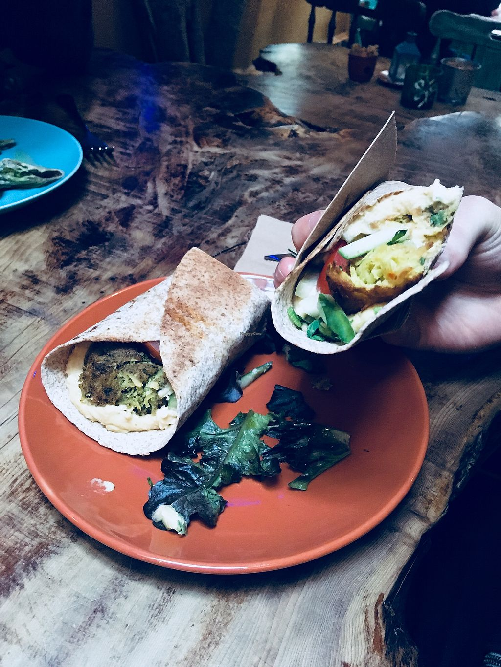 "Photo of Hawraman Cafe  by <a href=""/members/profile/PlantChemistry"">PlantChemistry</a> <br/>Vegan falafel <br/> April 2, 2018  - <a href='/contact/abuse/image/95221/379904'>Report</a>"