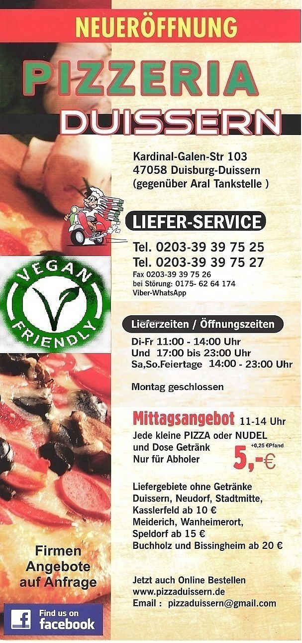 """Photo of Pizzeria Duissern  by <a href=""""/members/profile/pizzeriaduissern"""">pizzeriaduissern</a> <br/> pizza <br/> July 2, 2017  - <a href='/contact/abuse/image/95223/275947'>Report</a>"""